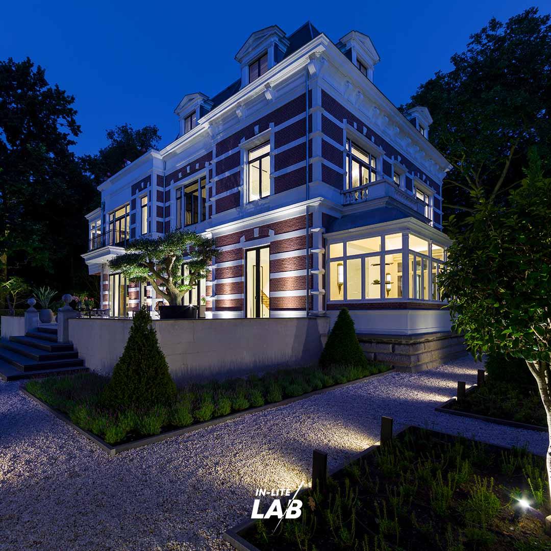 Villa Zonnehoek Rotterdam - Tuinverlichting - LAB - in-lite