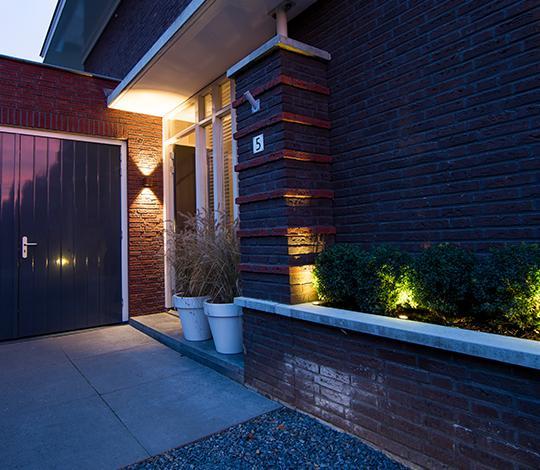 Tuinverlichting - overkapping verlichting - wandlampen buiten - in-lite